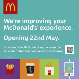 McDonald's at the Galleries closing for a refurbishment