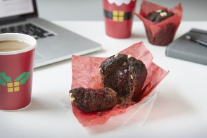 Chocolate Cherry Muffin Greggs Galleries Christmas food
