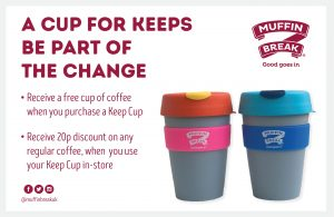 Muffin Break Keep Cup Coffee Environment Reuse Recycle