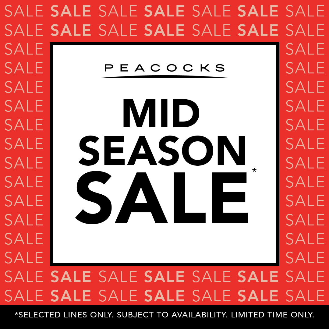 f2d821dfe3 Peacocks — Mid-Season Sales. Offer valid between  30 04 2019 and 12 05 2019